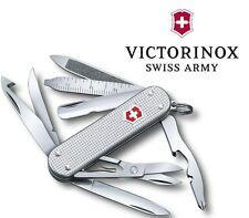 Victorinox Swiss Army MiniChamp Knife 15 Functions Silver Alox Handle 2 ¼ Closed