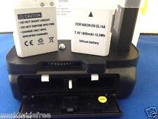 XIT Pro Grip NIKON D5100 D5200 D5300 + 2 Batteries 1800 mAh EN-EL14 MB-D10