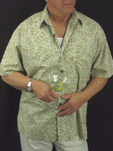 Katoen Hattie Groen Aloha Shirt L Vtg Hilo Hawaiian Wit Heren H63 Gazon qd0nXxw0CI