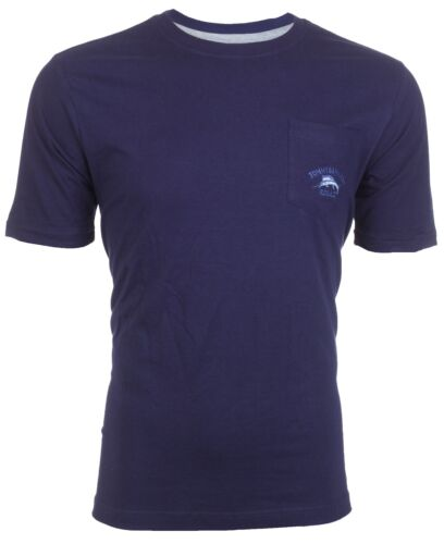 TOMMY BAHAMA Mens T-Shirt BALI HIGH TIDE POCKET Embroidered NAVY Relax $48 NWT