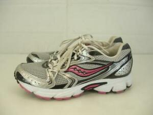 5ae6ac44d657 SAUCONY 15118-1 Womens 10 M 42 Grid Cohesion 5 Silver Black Pink ...