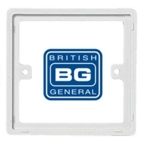BG NEXUS 10mm SPACER 1 GANG SINGLE 2 DOUBLE SOCKET FRAME SWITCH BOX BACK PLATE