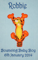 Bouncing Tigger Winnie The Pooh Personalised Super Soft Fleece Baby Blanket