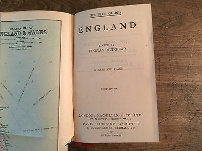 The Blue Guides England, by Findlay Muirhead - 1930 - 3rd Ed., Vintage H/C Book