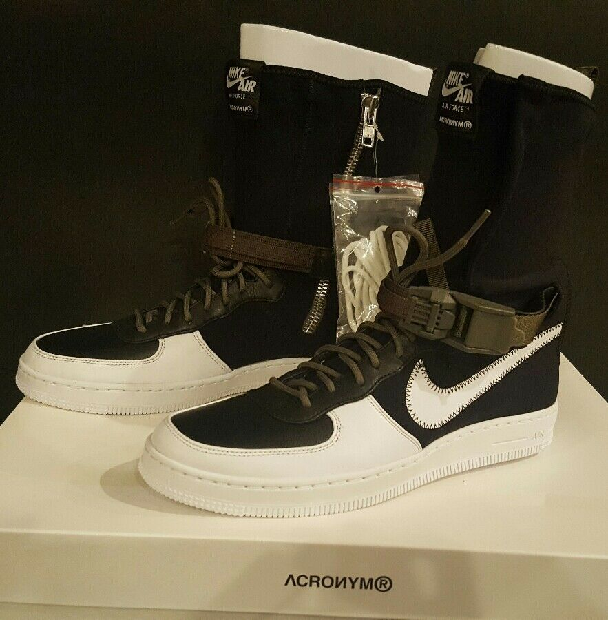 Nike acrónimo AF1 Downtown Hi SP acrónimo Nike Negro / Blanco / Medium Olive 649941-001 SZ 10 Wild Casual Shoes a0c13e