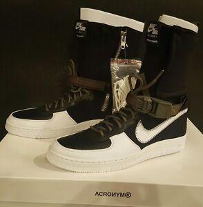 Image is loading Nike-AF1-Downtown-Hi-SP-Acronym-Black-White-