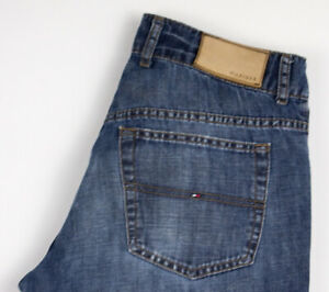 Tommy Hilfiger Hommes Jeans Jambe Droite Taille W32 L32 AKZ559