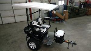 Custom Golf Cart Ez Go Club Car Yamaha Tow Behind Trailer Tag A Long Brand Ebay