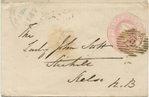 GB-LONDON-Inland-Office-2-rare-Numeral-Postmark-Parmenter-2F-NEW-EARLIEST-DATE