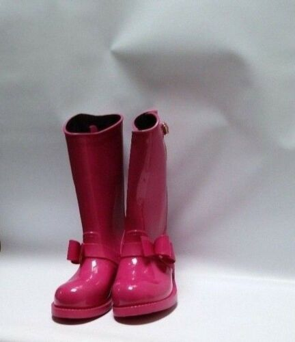 VALENTINO RED V BOW  PINK RAIN BOOTS SIZE 10