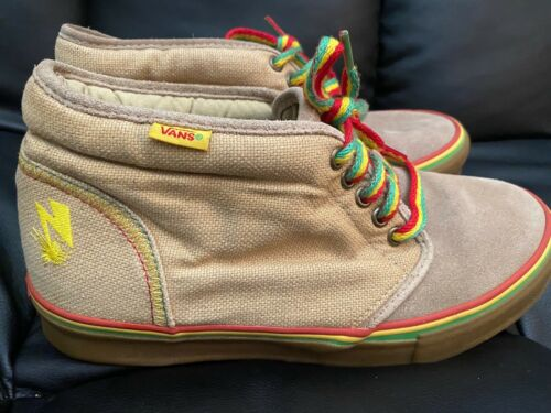 Vans Bad Brains Chukka Boot Rasta Mens Size10 Hemp