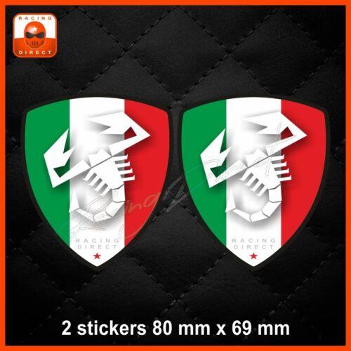 0063 Sticker FIAT ABARTH tricolore decal aufkleber adesivo 500 500X Punto Spider