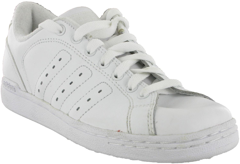the best attitude ec983 8d37a Le ragazze bianche adidas lea donna occasionale basso merletto pattinare  sport formatori scarpe uk5   Prezzo