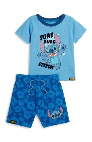 Primark Garçons Disney Lilo et Stitch Top and Short Set BNWT tous âges