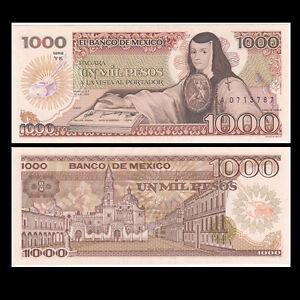 Mexico-1000-Pesos-Banknote-1985-P-85-UNC-North-America-Paper-Money