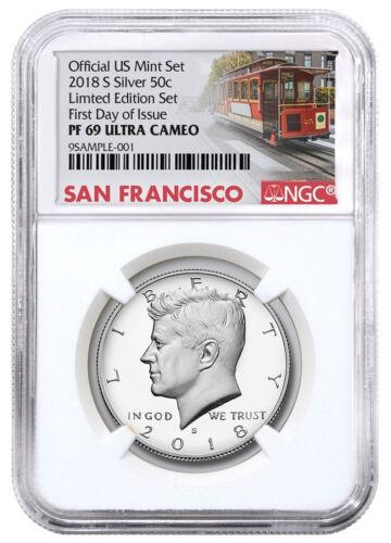 2018-S Silver Proof Kennedy Half Dollar Limited NGC PF69 UC FDI Trolley SKU55740