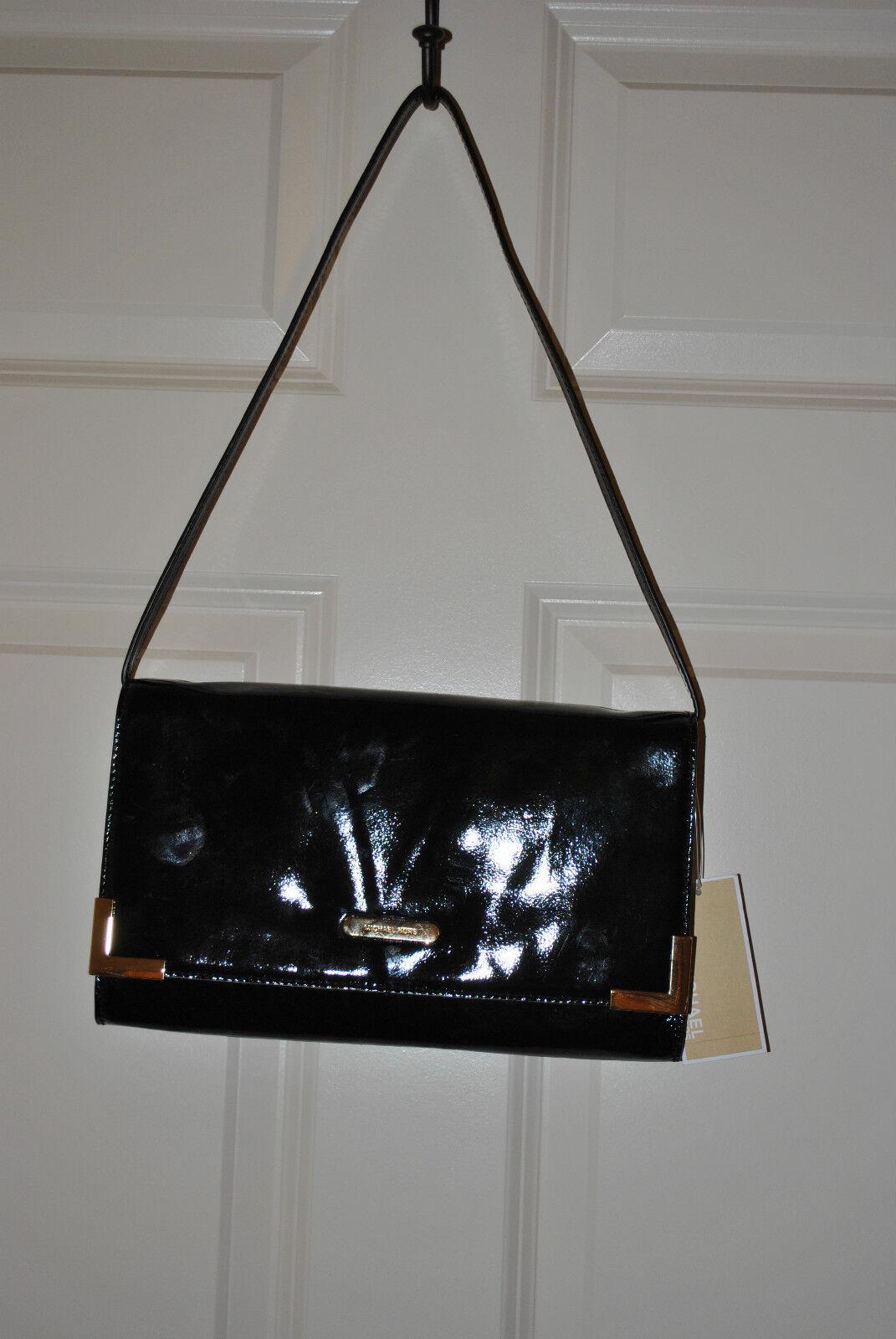 ebac6201906e Michael Kors Black Leather Beverly Oversized Clutch Handbag Bag ...