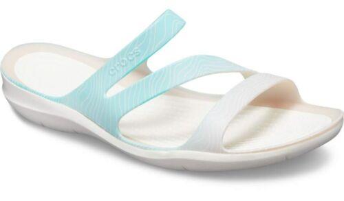 Crocs Femme Swiftwater Sandales Femme Été Plage Chaussures Flip Slip Ons Noir