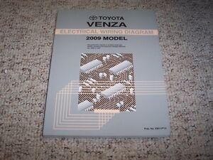 2009 Toyota Venza Electrical Wiring Diagram Manual AWD 2 ...