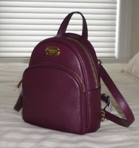 da8c8ed08e2b ... color block pebbled leather backpack maroon oxbld 18d14 official image  is loading nwt michael kors abbey xs leather backpack crossbody 416df 4b418  ...