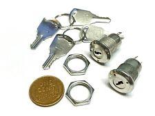 2 X Key Switch Off On Lock Metal Toggle Security Ks 02 B10