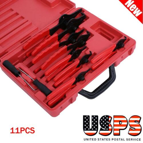 11PCS Heavy Duty Circlip Plier Snap Ring Plier External Internal Kit with Case