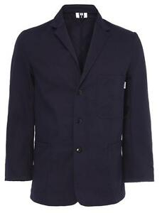 Mens-Cotton-Drill-Workwear-Fashion-Jacket-Navy-Shop-Keeper-Coat-Summer-JK01