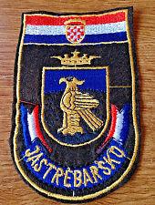 CROATIA ARMY - Training Center JASTREBARSKO - war time sleeve patch