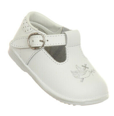 White Baby Toddler Girls Leather