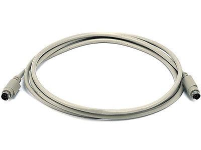 10ft Mini DIN 8-Pin M//M Male to Male Beige MD8 8 MiniDIN MDIN8 Cable