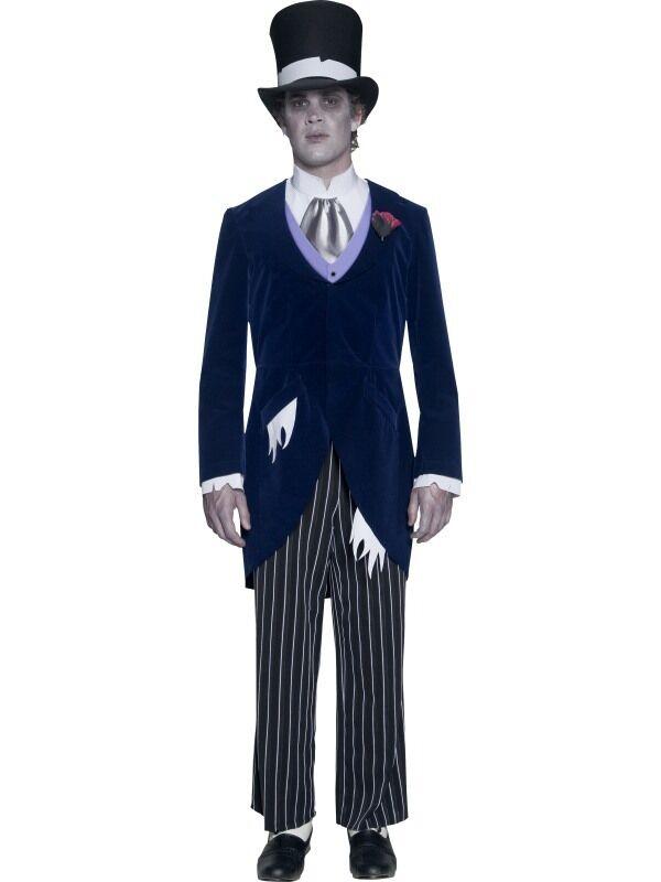 Gothique Femmeor marié marié marié Hommes 's Halloween Fancy Dress Costume. Inc Veste & Chapeau d5c815