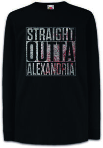 Straight-Outta-Alexandria-Kinder-Langarm-T-Shirt-The-Fun-Walking-City-Stadt-Dead