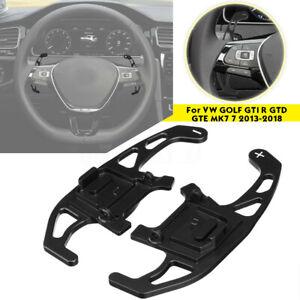Paire-Extension-Palettes-volant-noir-pour-VW-GOLF-GTI-R-GTD-GTE-MK-7