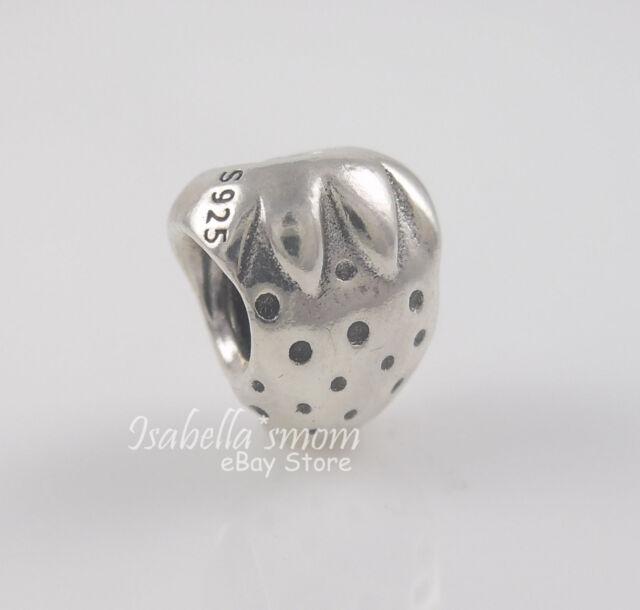 Authentic PANDORA Silver Strawberry Charm Bead 790112