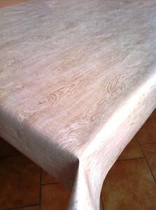 Tovaglia di tela cerata quadrato rotondo ovale lavabile simil legno chiaro ebay - Tovaglia per tavolo ovale ...