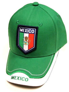 b3f199855b6 Image is loading Mexico-Green-Soccer-Country-Hat-Cap-EMBROIDERED-Patch-