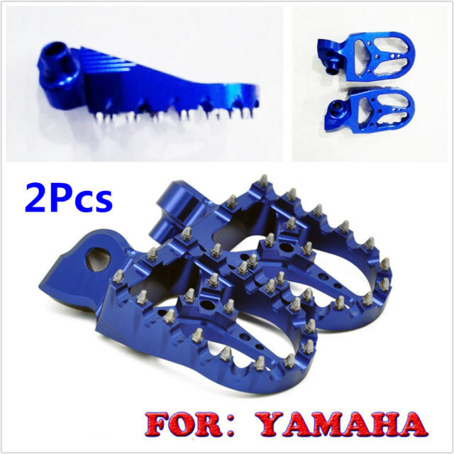 2Pcs Blue CNC Racing Wide Fat Foot Pegs Footpegs For YAMAHA ALL YZ//YZF//WRF 99-17