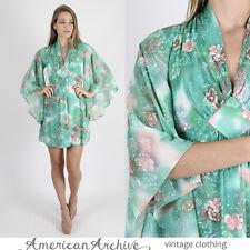 Vintage 70s Boho Hippie Dress Angel Kimono Cocktail Party Disco Festival Mini S