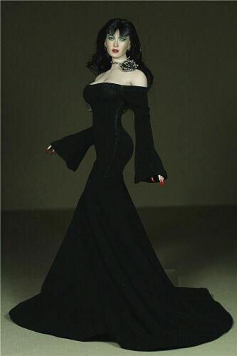 "1//6 Female Black Dress Clothes Diamond Belt For 12/"" PH Big Bust Steel Bone Body"