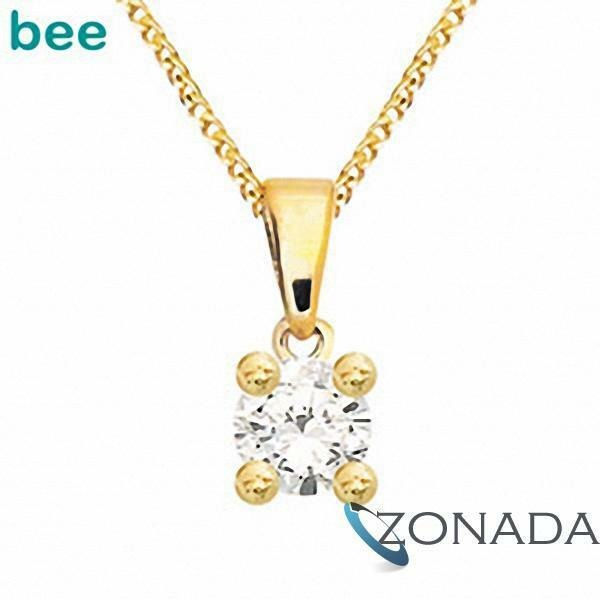 New Natural Diamond Claw set 9k 9ct Solid Yellow Gold Pendant 60985/A05