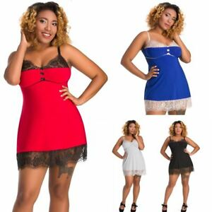 51a20af5e8c Nine X Womens Nightwear Plus Size Lingerie 12-26 L-7XL Babdoll Dress ...