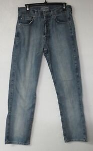 Mens-Stussy-Garment-Co-Jeans-Size-30x31-Button-Fly-Cotton-Blue-Pants-Denim