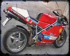 Ducati 998S Bayliss 1 A4 Photo Print Motorbike Vintage Aged