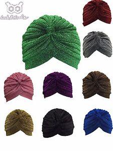 Shimmer-Turban-Hat-Cap-Hijab-Hairband-Bandana-Wrap-Hair-Loss-Chemo-Plain-Plain
