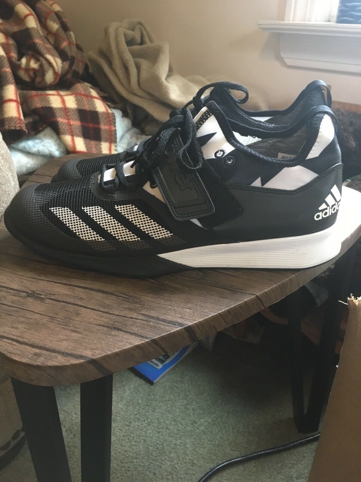 adidas crazy power power crazy men's size 10.5 Black/White 9966dd