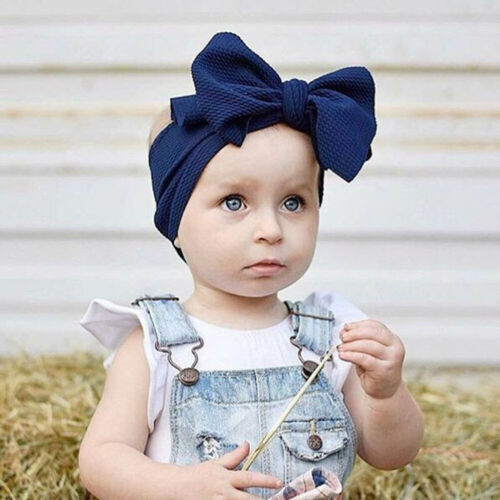 Baby Toddler Girls Kids Bunny Rabbit Bow Knot Turban Headband Headwrap Hair Band
