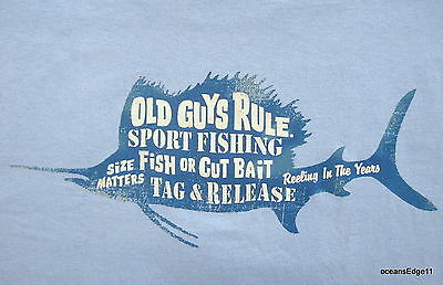Sport Fishing,Old Guys Rule,Surf T-Shirt,XLarge,Blue,Sailfish,Vacation