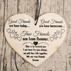 Terrific Details About Good Friends Great Friends Plaque Sign Best Friend Gift Shabby Chic Heart Home Interior And Landscaping Ponolsignezvosmurscom