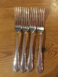 4 X Vintage C. P Walker & Co Silver Plated EPNS Table Forks 20.9cm A1