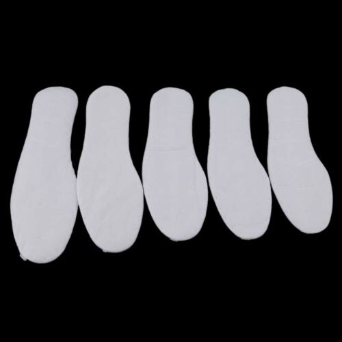 Adult White 5 Pairs of Disposable Soft Cotton Economic Insole Foot Care G